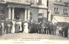 La 1-a UKo en Bulonjo-sur-maro 1905 - bildkarto n-ro 8 - Antaŭ la Urbodomo de Folkestone