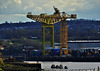 Huge Cranes situated at Shepherds Offshore on The Tyne