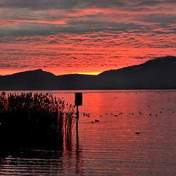 Crépuscule au lac...