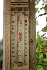 Maximum and Minimum temperatures from April to September
