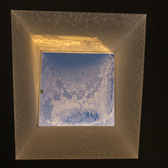 Skylight, Frost and a Leaf