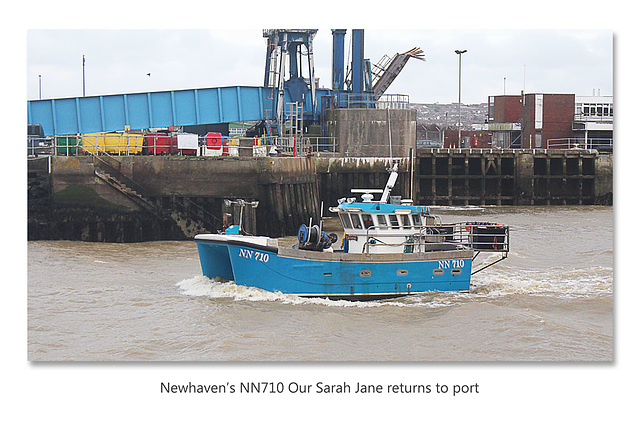 Newhaven's NN710 'Our Sarah Jane' returns to port - 9.1.2016