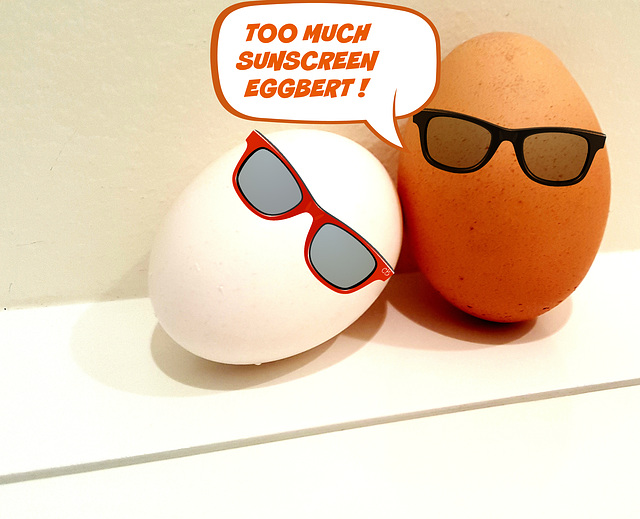 Too Much Sunscreen Eggbert! (explore)