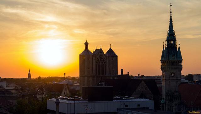 Sonne über Braunschweig