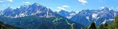 Dolomitenblick vom Karnischen Höhenweg