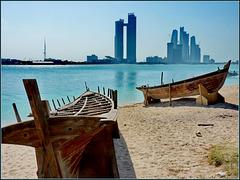 AbuDhabi : Ethiad Towers view by Marina Mall