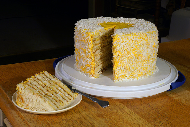 Lemon Daffodil Torte