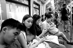 Bangkok - vu ! elle n'était pas trop concentré sur son portable...
