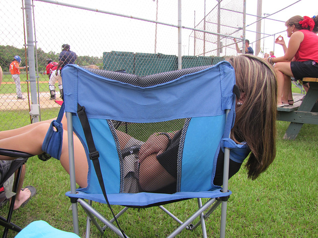 Now you don't :))  relaxing at a game :)