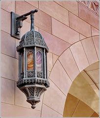 Oggetti appesi : Un lampione originale nella moskea di Muscat