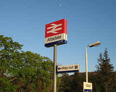 Spring moon over Attadale station