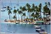 St.Lucia : Marigot Bay - una lingua di sabbia in un porto naturale