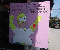 Homer Simpson en Thaïlande.