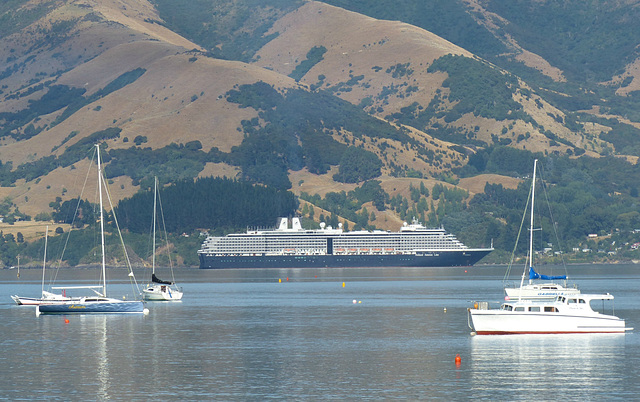 Oosterdam at Akaroa (1) - 28 February 2015