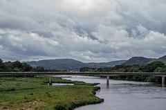 Depuis la passerelle himalayenne à Rochemaure (Ardèche)