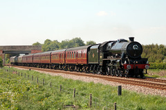 LMS class 6P Jubilee 4-6-0 45690 LEANDER with 1Z94 05.36 Liverpool Lime St - Scarborough The Coast to Coast Express at Spital Bridge, Seamer 19th May 2018
