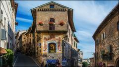 In den Straßen von Assisi