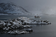 Lofoten, Leknes area, Snow coming