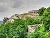 Blick zur Burgruine Festung Regenstein