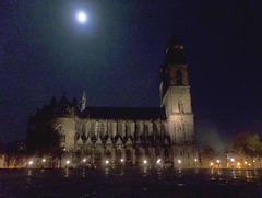 Vollmond über dem Dom zu Magdeburg