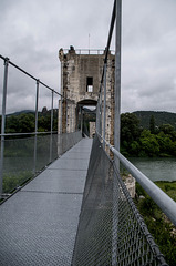 la passerelle himalayenne à Rochemaure (Ardèche)