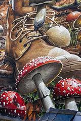 Mushroom Picker Mural