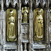 st mary's church, warwick,weepers on tomb of richard beauchamp, earl of warwick, +1439, the man carrying a girdle book