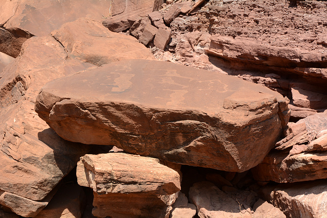 Namibia, The Stone with Ancient Rock Carvings in the Twyfelfontein Valley