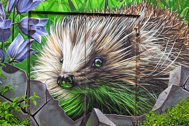 Hedgehog Mural