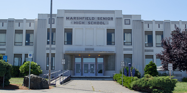 Coos Bay OR Marshfield School architecture (#1099)