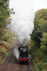 LMS class 8F no 48624  leaving Loughborough with Loose_Grip at the controls