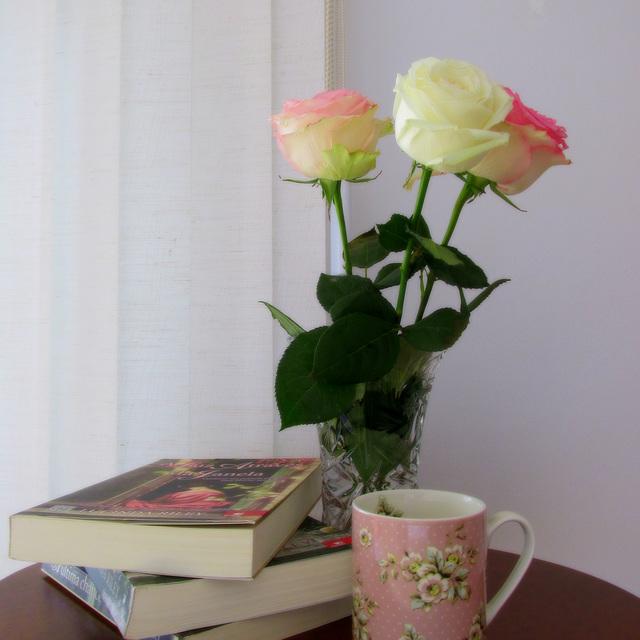 Libroj kaj rozoj...
