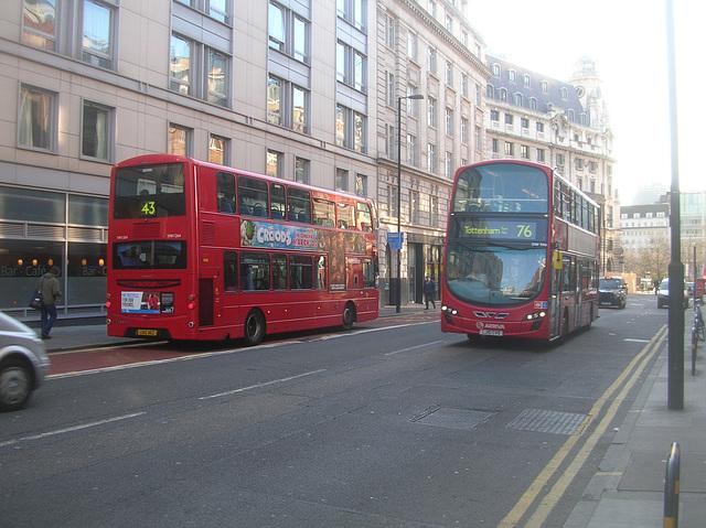 DSCN0021 Metroline VW1264 (LK12 AEZ) and Arriva London DW306 (LJ10 CVO) - 2 Apr 2013