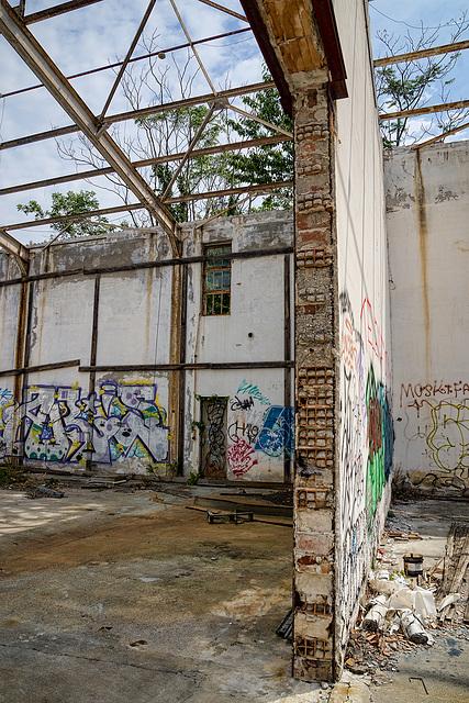 Abandoned Trieste - wall cut