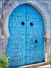 Tunisi : Una bella porta nella Medina
