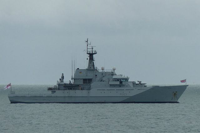 HMS Mersey in the Solent - 29 April 2015