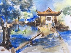 Suzhou . Chine : Dans un parc