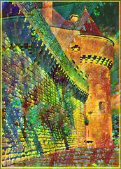 Les remparts de Guérande (44) avec Picsart