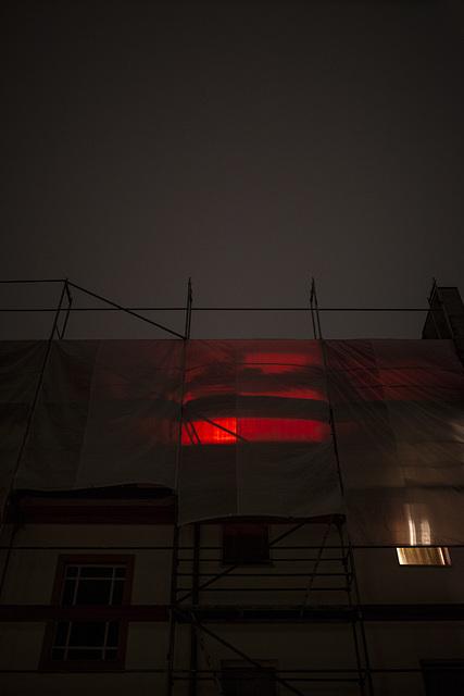 rotlicht im Gewitter