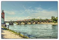 Regensburg - Steinerne Brücke - Stone Bridge