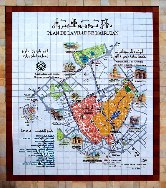 PLAN DE LA VILLE DE KAIROUAN