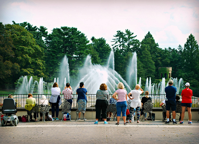HFF from the Main Fountain at Longwood Gardens!