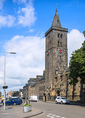 St Andrews, St Salvator's College from the Corner of Union Street and North Street
