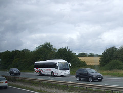 DSCF9322 Carver's Coach on the M6 near Rugby - 19 Aug 2017