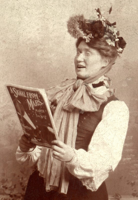 A Signal from Mars? (Woman with Sheet Music)