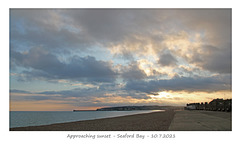 Approaching sunset - Seaford Bay  - 10 7 2021
