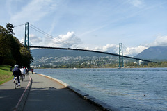 Sea Wall and Lions Gate Bridge