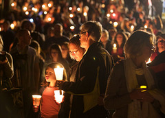 Another masacre in America, another candlelight vigil