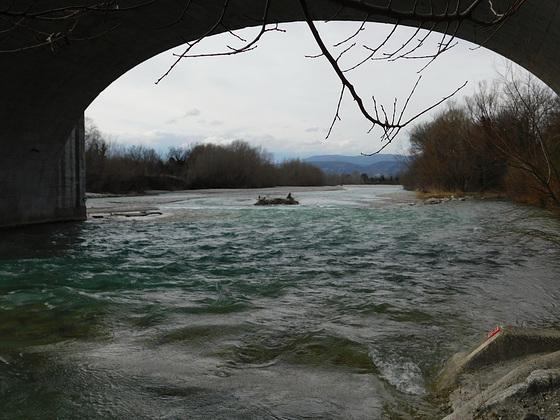 Drôme sous le Pont de Livron/Drôme