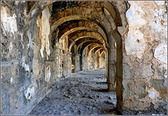 Manavgat : la galleria del grande teatro di Aspendos